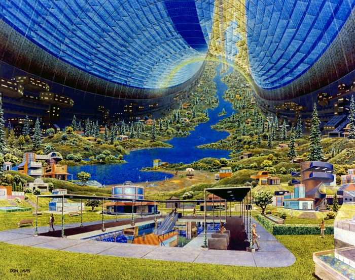 Conceptual art for a Stanford Torus Interior
