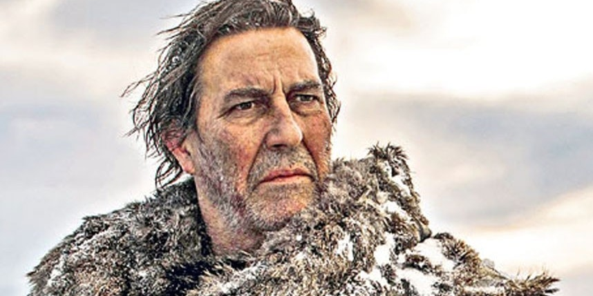 Ciarin Hinds in Game of Thrones as Mance Rayder who will now be Steppenwolf.