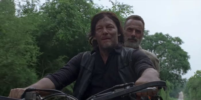 Daryl and Rick ride off into the sunset on 'The Walking Dead'.