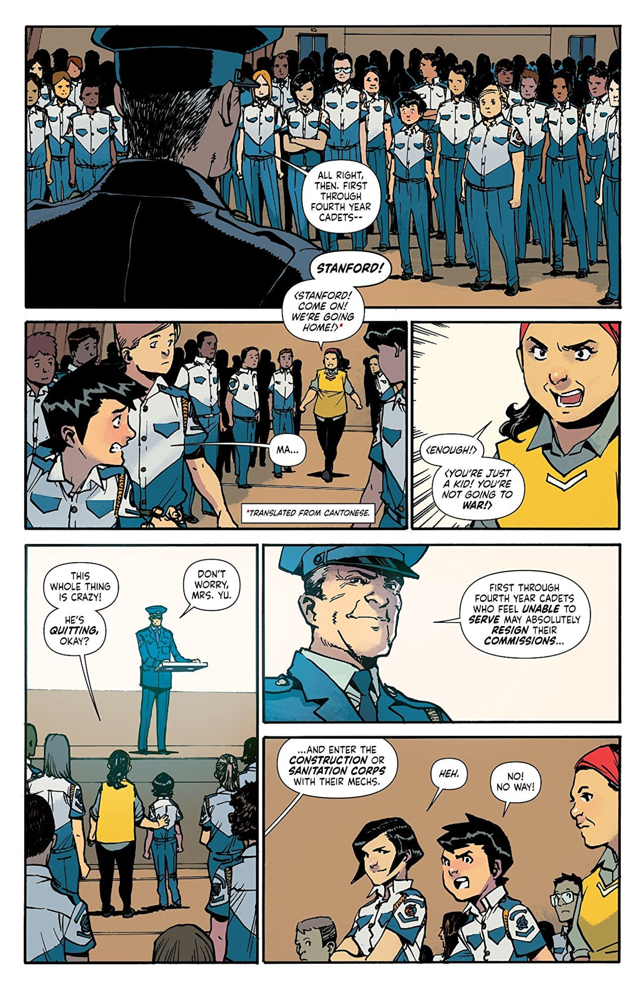 Mech Cadet Yu' Made Asian Immigrant Moms Into Comic Book