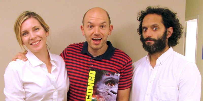 "June-Diane Raphael, Paul Scheer and Jason Mantzoukas, hosts of ""How Did This Get Made?"""