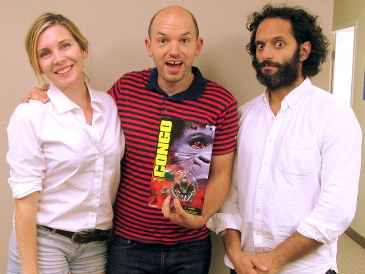 """June-Diane Raphael, Paul Scheer and Jason Mantzoukas, hosts of """"How Did This Get Made?"""""""