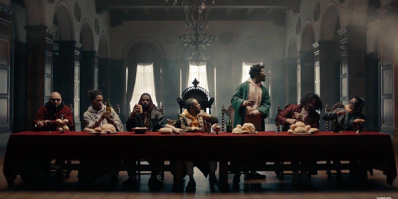 Kendrick Lamar as Jesus Last Supper