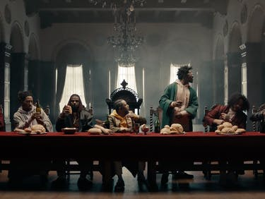 Kendrick Lamar as Jesus Last Supper