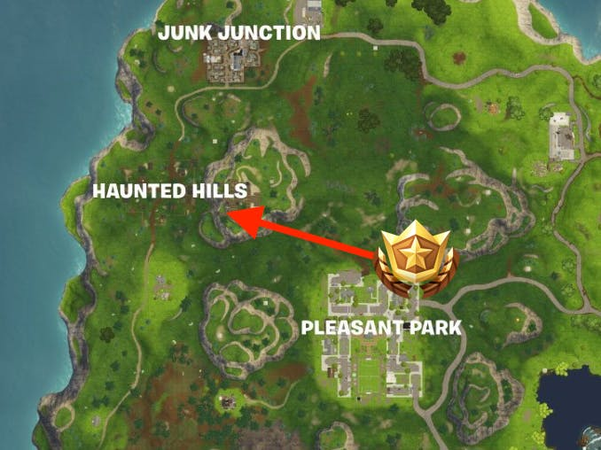 Fortnite Week 5 Secret Battle Star Location Loading Screen Map And