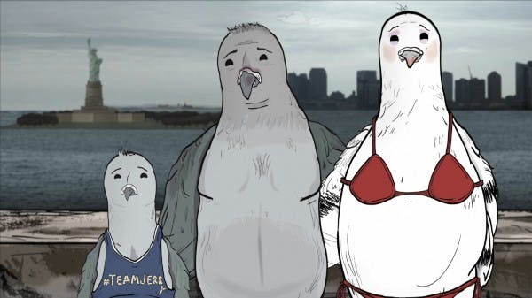 Pigeons in HBO's 'Animals'