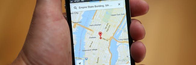 Google Maps app Manhattan iPhone