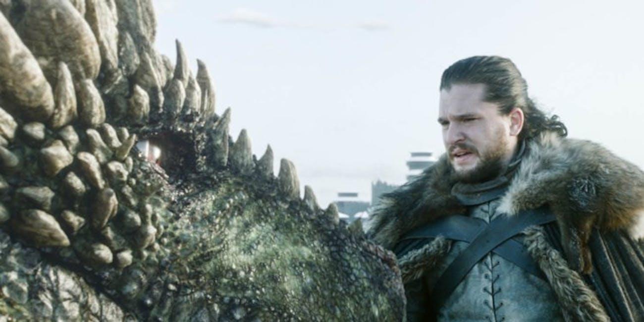 Game of Thrones Jon Snow Rhaegal