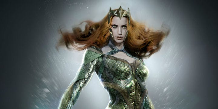Design concept for Amber Heard's Mera in DC's Justice League