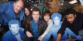 The cast and FORMER directors of 'Solo: A Star Wars Story'