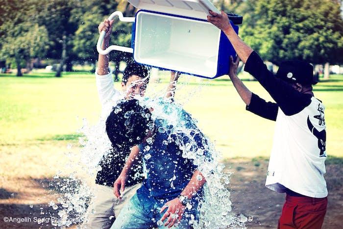 Ice bucket challenge.