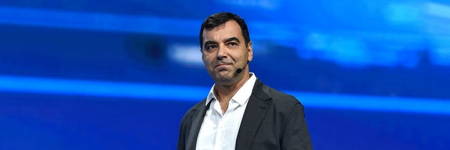 LAS VEGAS, NV - JANUARY 05:  Mobileye Co-founder, CTO and Chairman Amnon Shashua speaks at a Volkswagen press event at CES 2016 at The Chelsea at The Cosmopolitan of Las Vegas on January 5, 2016 in Las Vegas, Nevada. CES, the world's largest annual consumer technology trade show, runs from January 6-9 and is expected to feature 3,600 exhibitors showing off their latest products and services to more than 150,000 attendees.  (Photo by David Becker/Getty Images)