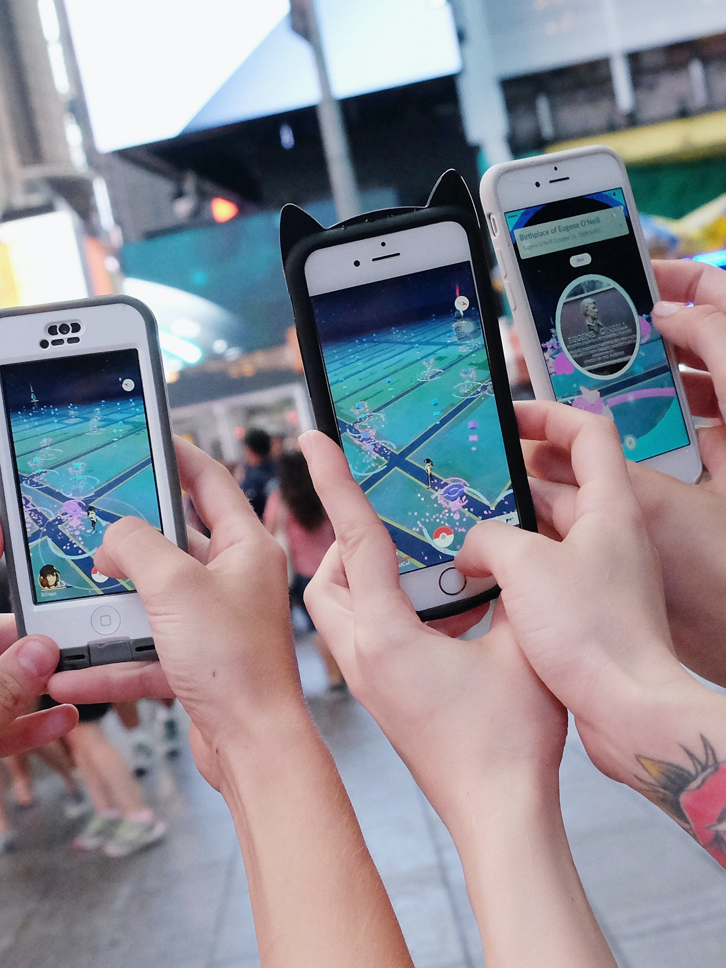 NEW YORK, NY - JULY 25:  Pokemon Go Craze Hits New York City on July 25, 2016 in New York City.  (Photo by Mike Coppola/Getty Images)