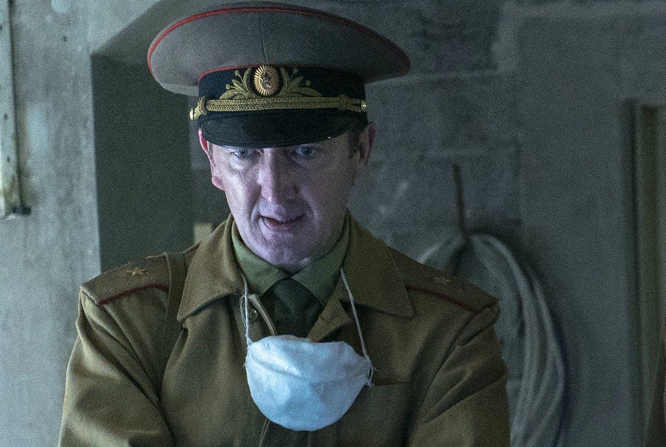 Ralph Ineson as General Nikolai Tarakanov in 'Chernobyl'.