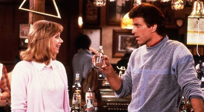 Shelly Long and Ted Danson as Diane Chambers and Sam Malone on 'Cheers'