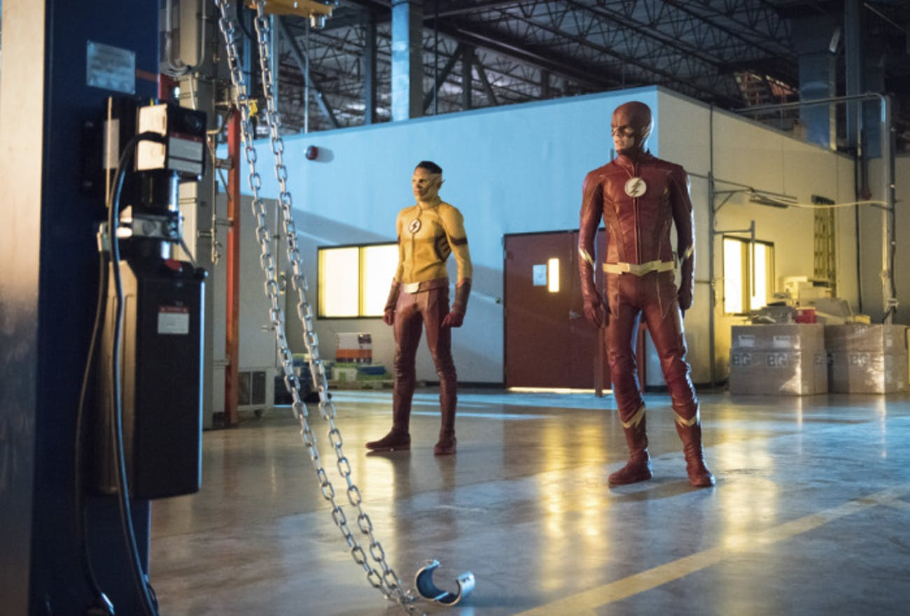 Barry gets a new suit, but Wally does not.