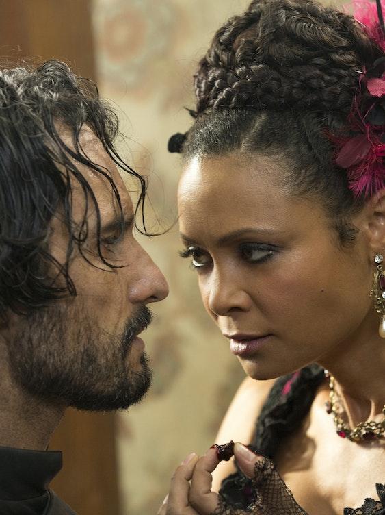 Rodrigo Santoro and Thandie Newton in 'Westworld'