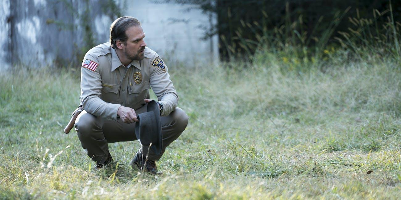 Sheriff Hopper in 'Stranger Things'