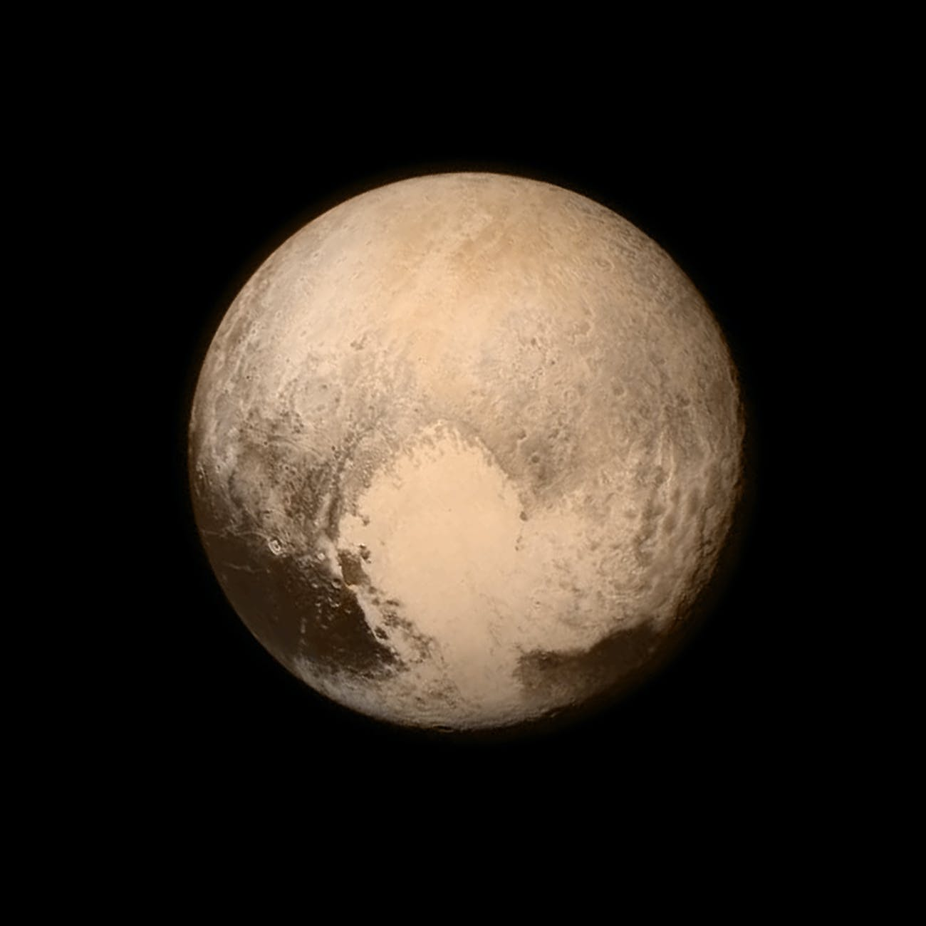 Pluto - as seen by New Horizons