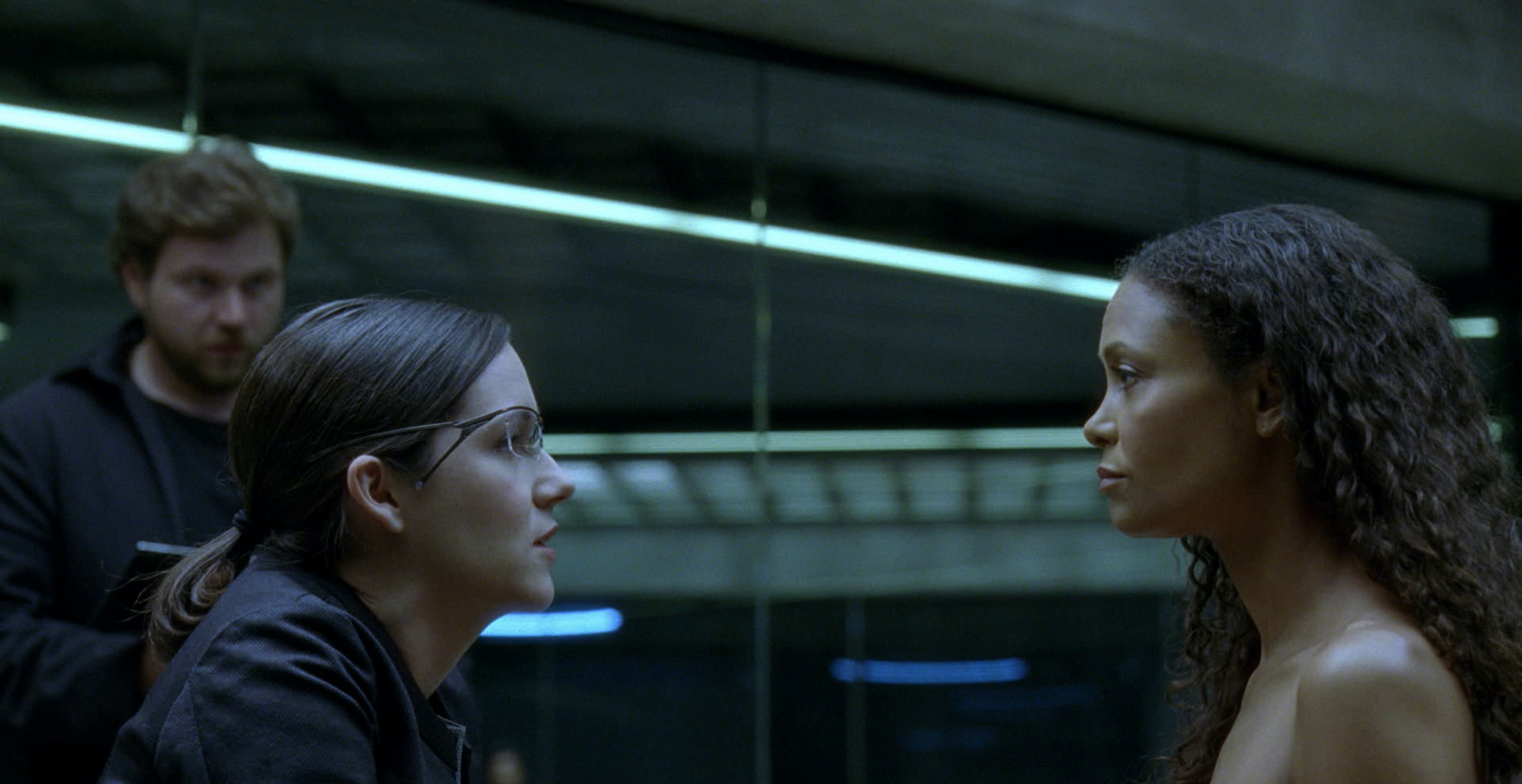"Maeve's naked interrogation in ""Westworld"""