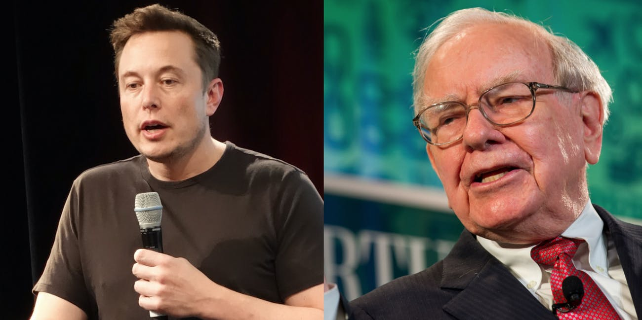 Elon Musk and Warren Buffett