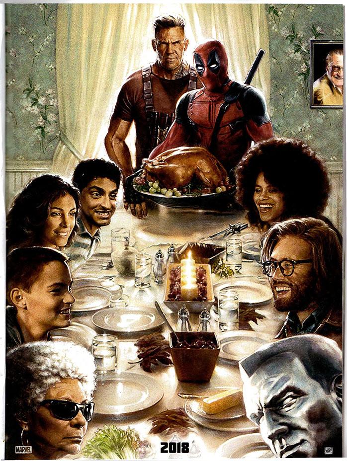 Sammler-Pappschilder Poster A3 Deadpool 2 Kabel Domino Marvel Poster Film 12