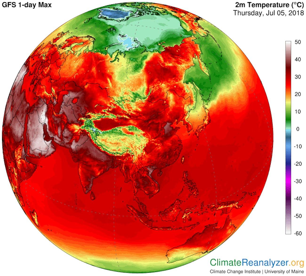 Climate Reanalyzer Asia