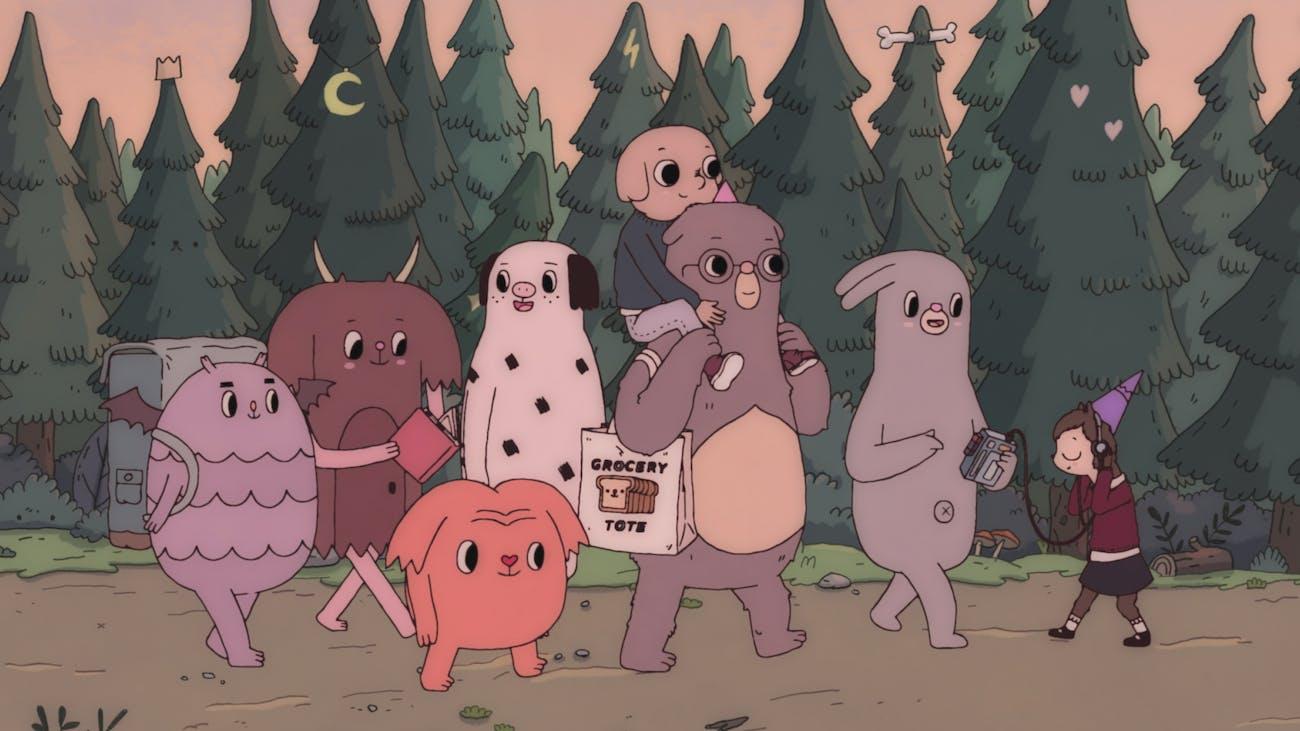 Oscar, Hedgehog, and some monster pals.