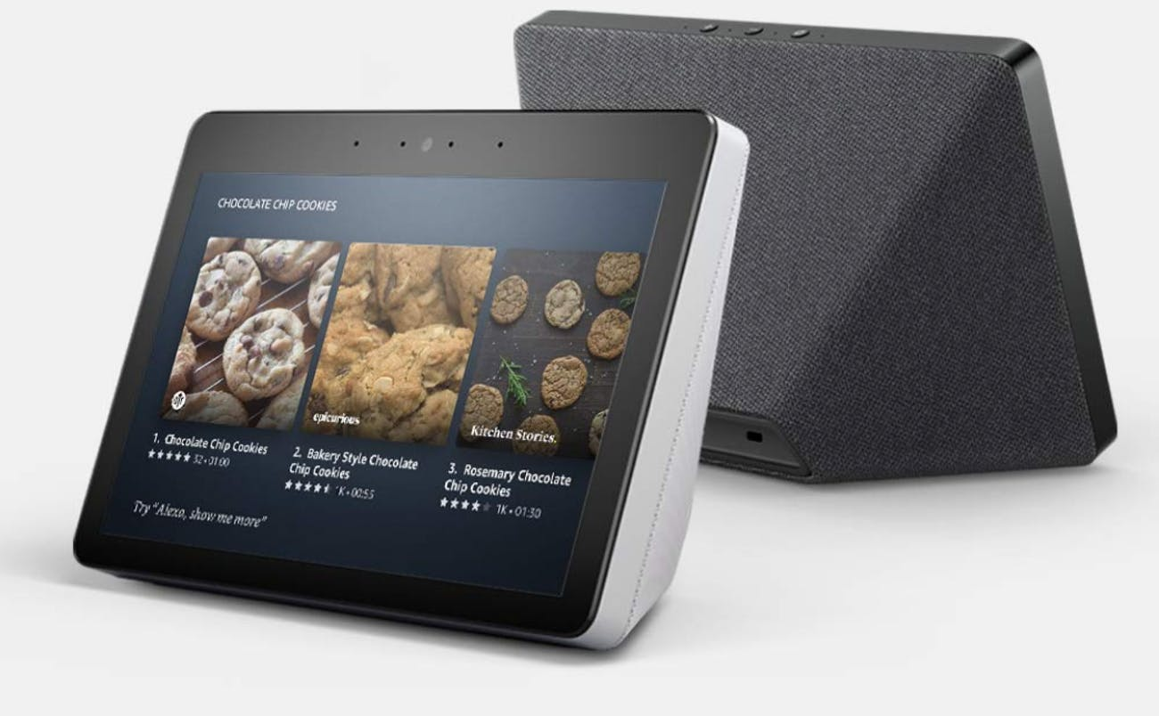 The second-generation Amazon Echo Show has a fabric-style base, like the Google Home Hub.