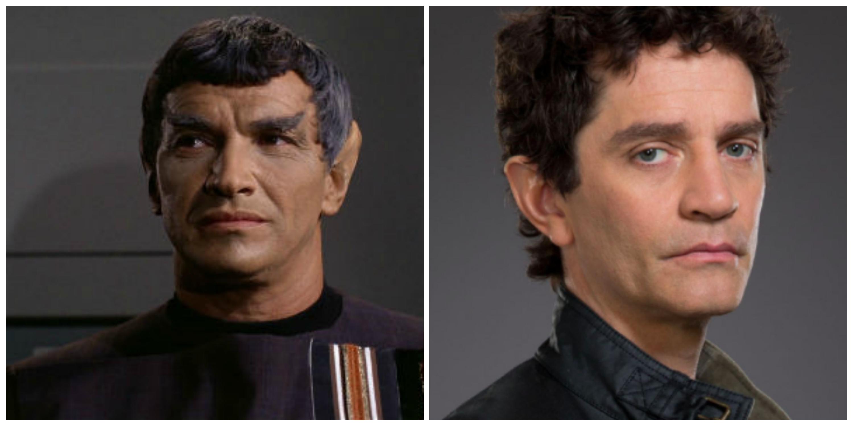 LEFT: Mark Lenard as Sarek. RIGHT: James Frain will play Sarek in 'Discovery.'