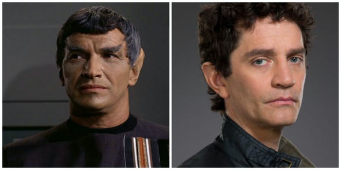 LEFT: Mark Lenard as Sarek. RIGHT: James Frain will play Sarek in 'Discovery.'