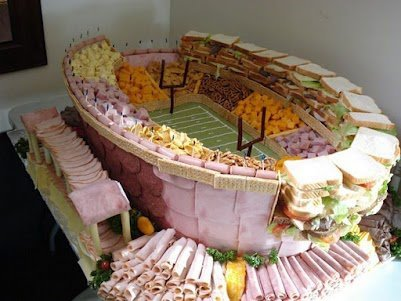 People choke on meat during the Super Bowl.