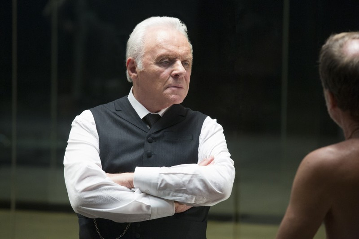 Anthony Hopkins as Dr. Robert Ford and...a friend.