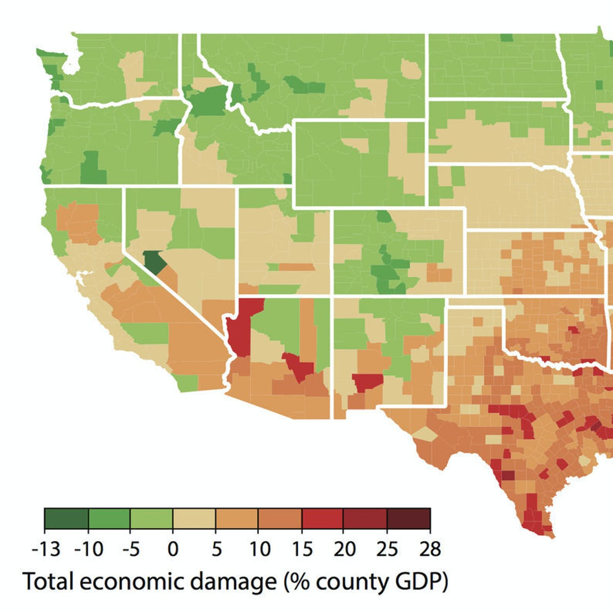 Maps Show How Climate Change Will Make Us Inequality Worse Inverse - Climate-map-of-us