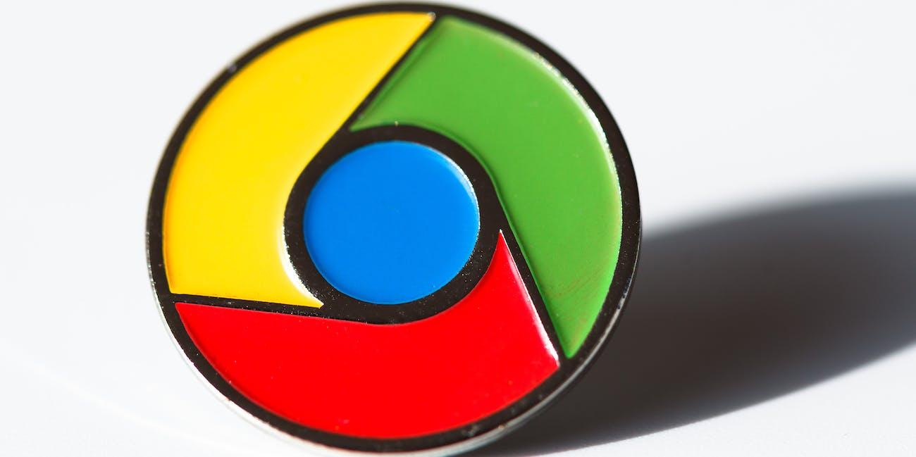Chrome lapel pin