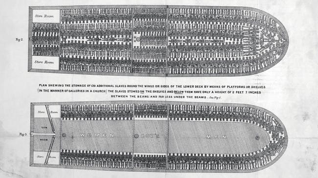 Brooks slave ship diagram