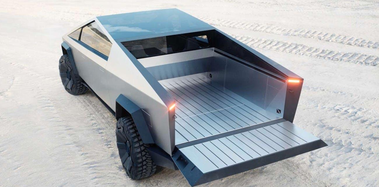 Tesla Cybertruck rear open