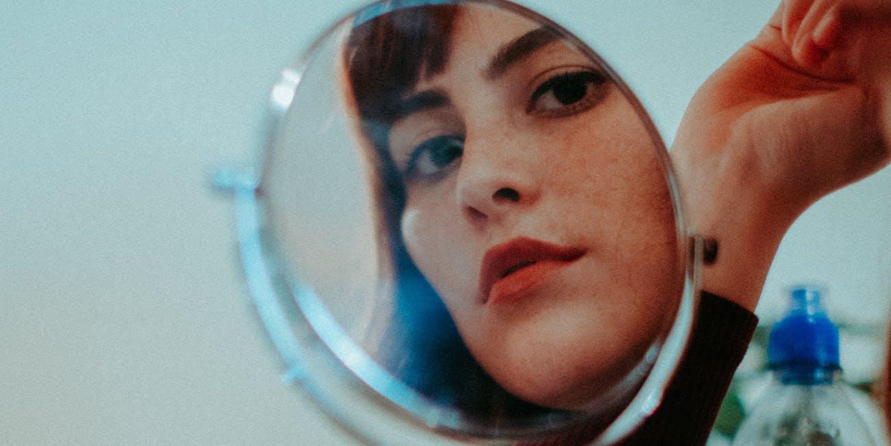 mirror, reflection, stare