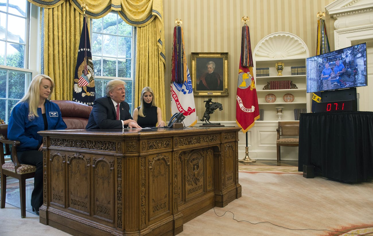 Trump ISS call