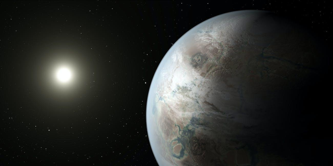 Kepler 452b abiogenesis zone ultraviolet aliens extraterrestrial life