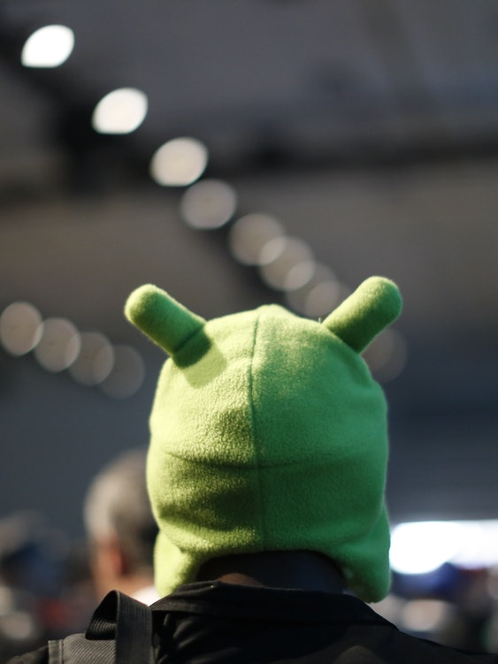 SAN FRANCISCO, CA - JUNE 25: An Attendee wears a Google Android Mascot hat during the Google I/O Developers Conference at Moscone Center on June 25, 2014 in San Francisco, California. The seventh annual Google I/O Developers conference is expected to draw thousands through June 26. (Photo by Stephen Lam/Getty Images)