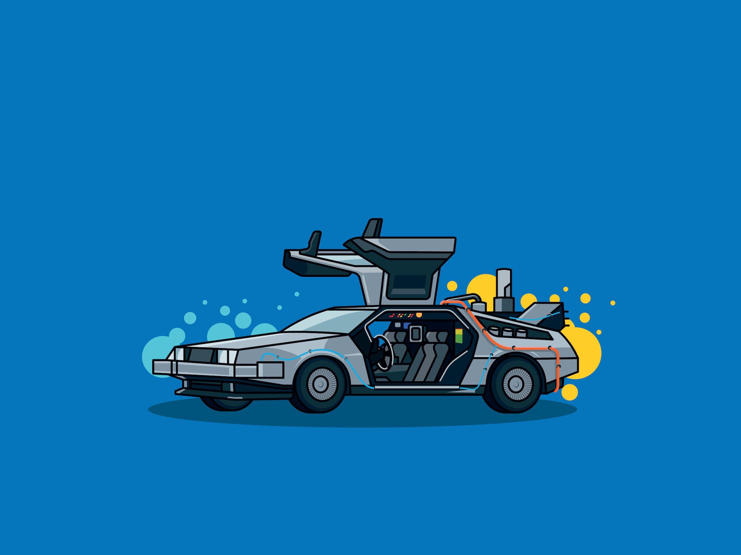 DeLorean illustration
