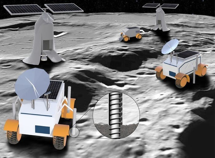An artist's rendering of lunar rover concepts.