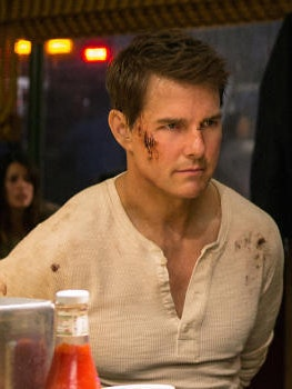 Tom Cruise as Jack Reacher in the sequel, 'Jack Reacher: Never Go Back'