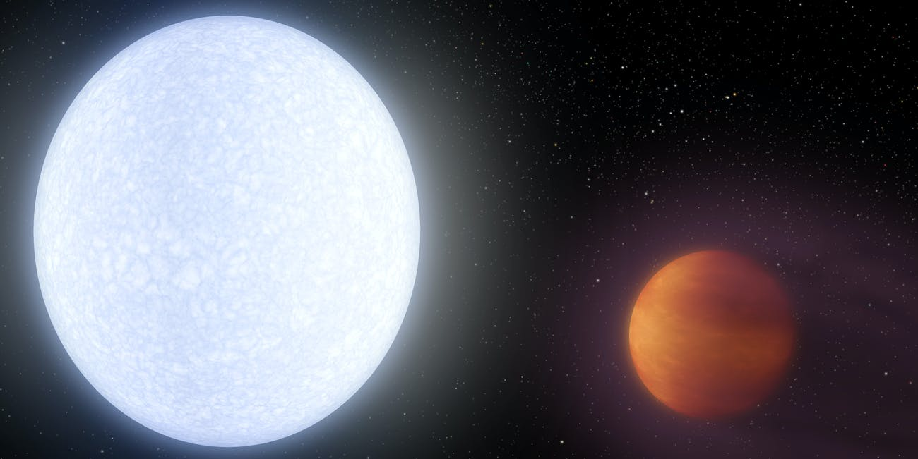 An Artist Rendering of the Hottest Exoplanet Orbiting its Star