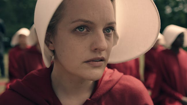 Elizabeth Moss as 'Offred' in Hulu's adaptation of Margaret Atwood's 'The Handmaid's Tale'
