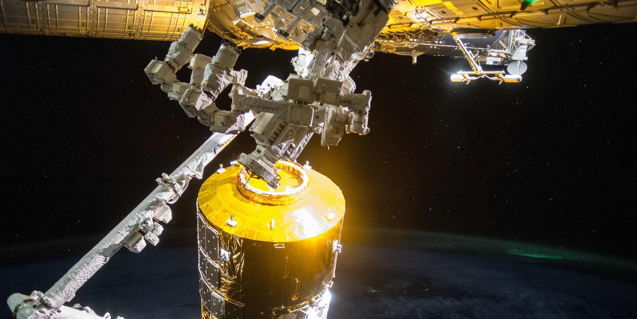 The HTV-5, which after supplying the ISS was sent to burn up in Earth's atmosphere. HTV-6 will do the same as soon as its mission is complete.