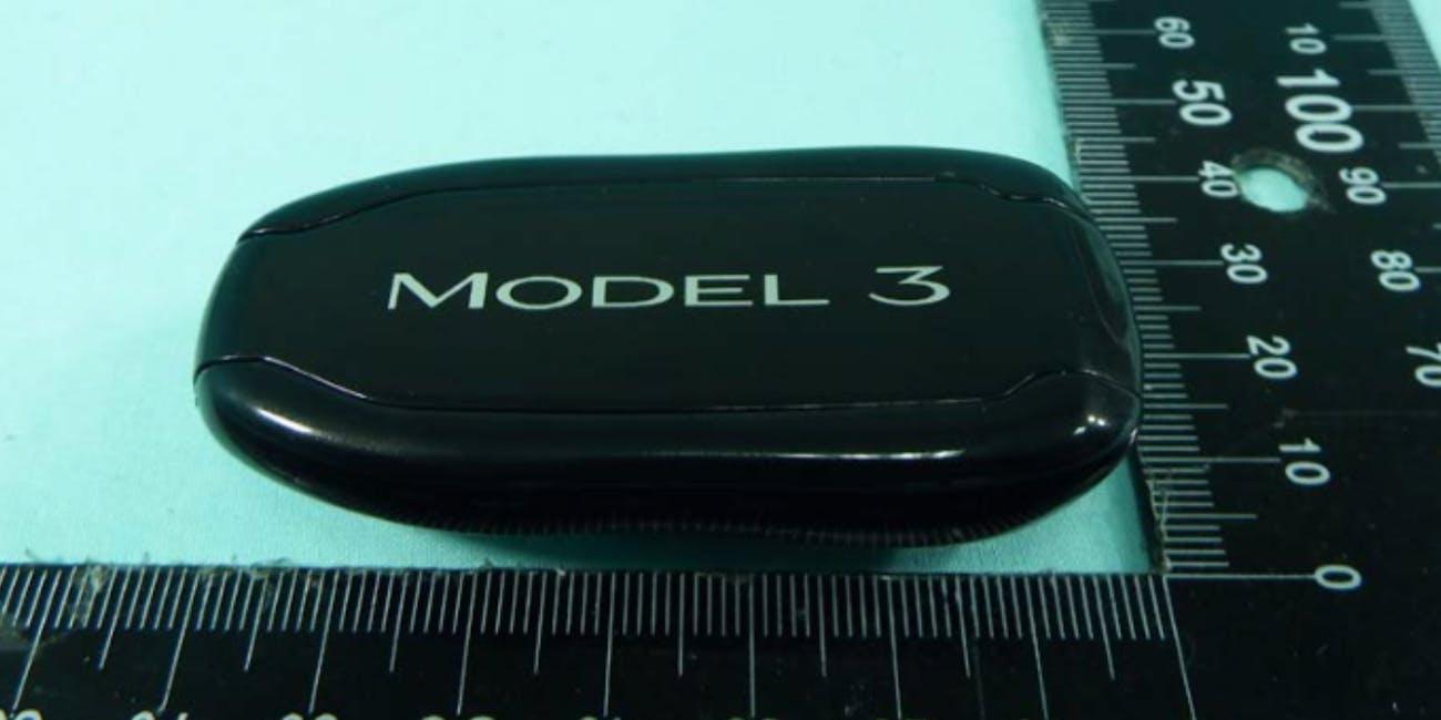 Tesla Model 3 key fob.