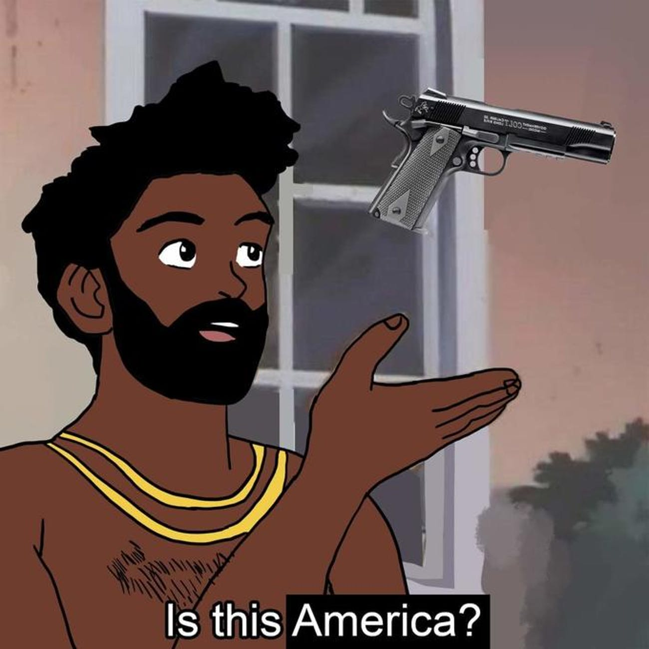 this is america pigeon meme