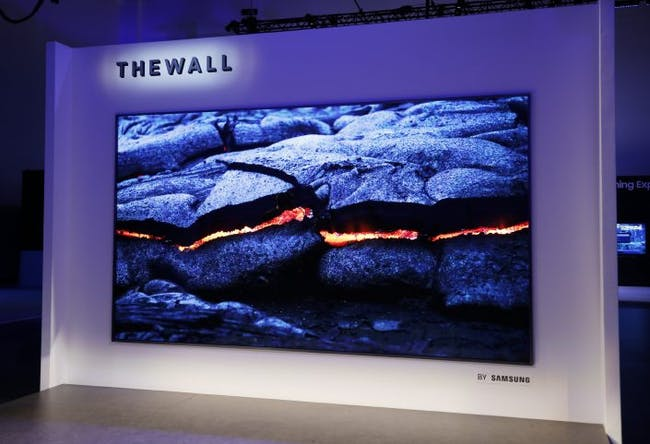 "Samsung's ""The Wall."""